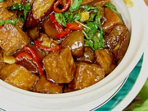 Eggplant w/ Tofu Bowl (L)