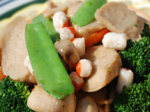Pork & Bean Curd w/ Broccoli